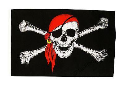 Pirat mit Kopftuch Banner Piraten Fahnen Flaggen 30x45cm