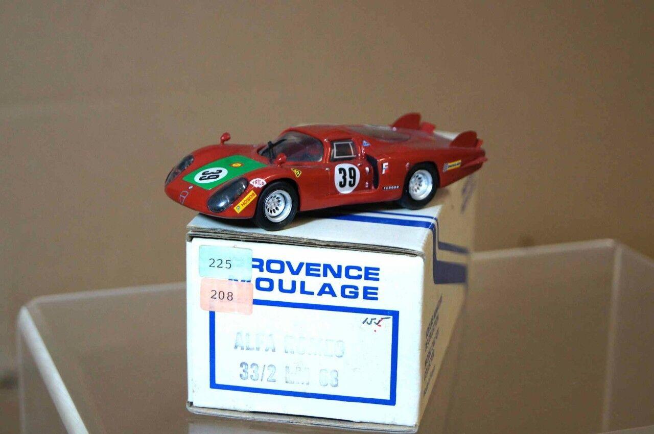PROVENCE MOULAGE 1968  ALFA ROMEO 33 2 LE hommeS 39 ar  vente avec grande remise