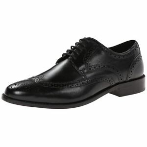 nunn bush nelson wing tip mens black leather lace up