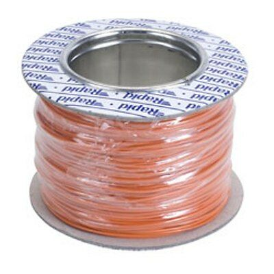 Model Railway/Railroad Layout/Point Motor etc Wire 100m Roll 7/0.2mm 1.4A Orange