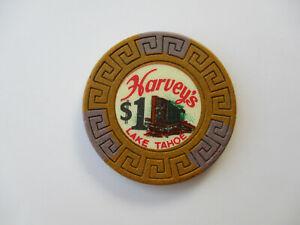 Lake Tahoe NV House Chip $1 Harveys Casino