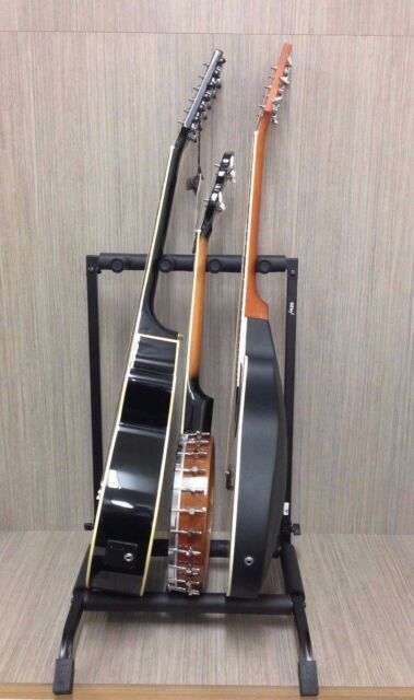 Haze Guitar/Instrument Rack Stand for THREE Acoustic-Electric-Bass-Banjo GS014-3