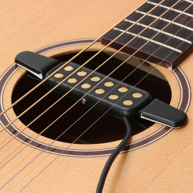 12 hole sound pickup microphone wire amplifier speaker for acoustic guitar black for sale online. Black Bedroom Furniture Sets. Home Design Ideas