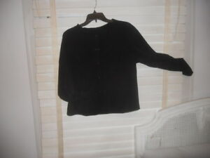 Babette Sf Art To Wear Black Boxy Stretchy Jacket M L Ebay