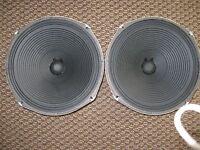 """Vintage 12"""" McGregor Speaker Pair 8 Ohms Ribbed Cones"""