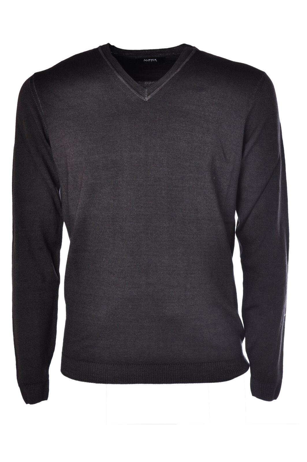 Alpha - Knitwear-Sweaters - Man - Grey - 482315C183833