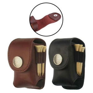 Portable-Golf-Ball-Holder-Waist-Pouch-Bag-Leather-Cool-Golf-Tee-Bag-Sports-HH
