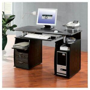 Techni Mobili Super Storage Computer Desk Espresso 7417875657889