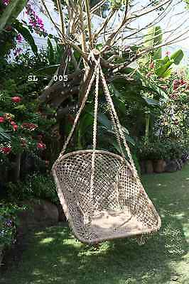 Jute Hammock Hanging Chair Swing Handmade Macrame NEW