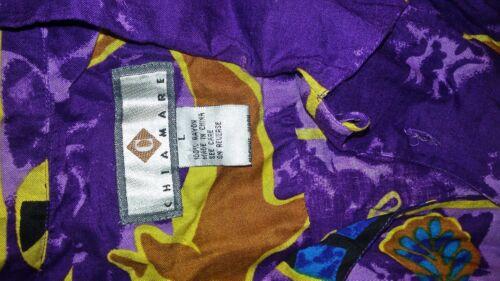 Nuevo hombre L talla Shirt B1726 Chiamare Purple Rayon Dolphin para Button Front gwcxgqr0Rz