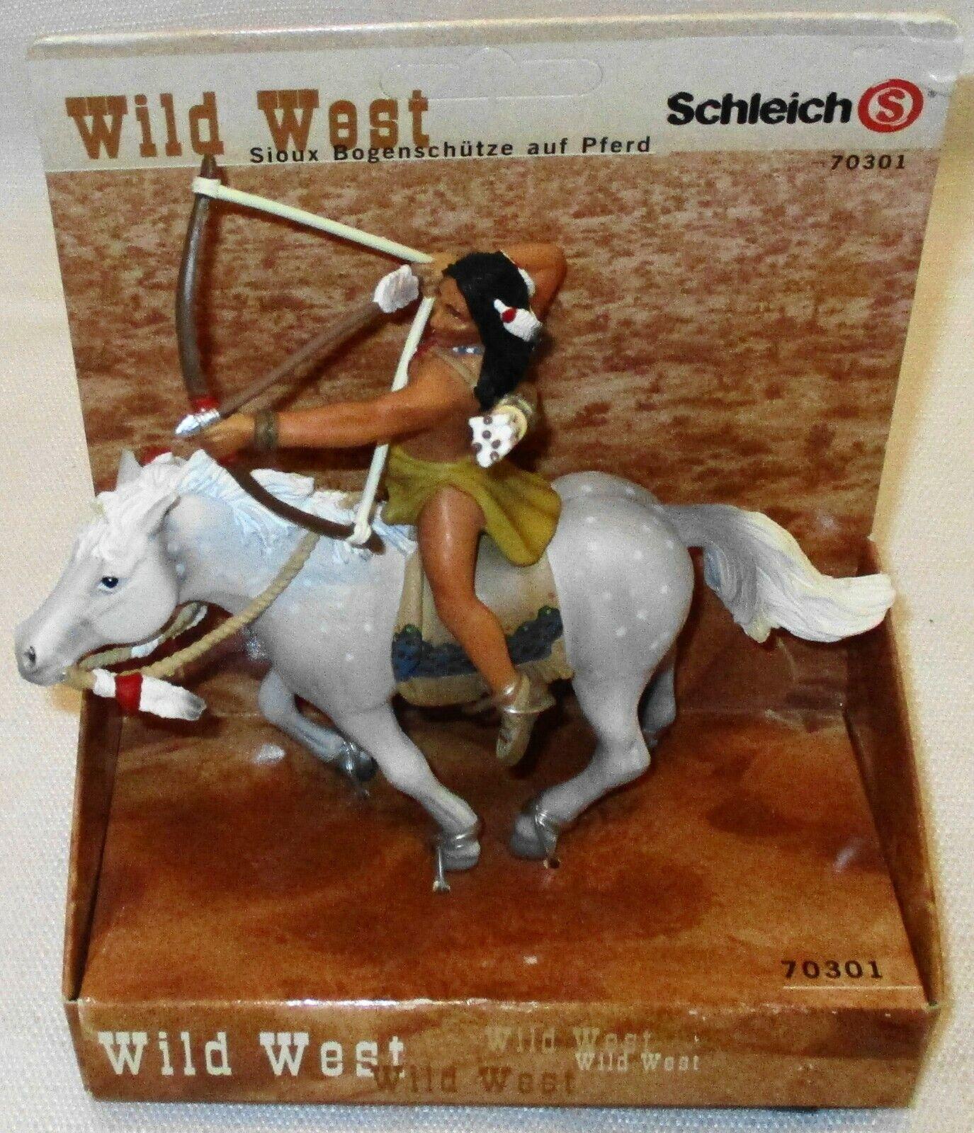 Schleich Wild West Series Sioux Archer On Horse Figure 70301, RETIrot (SKU 526)