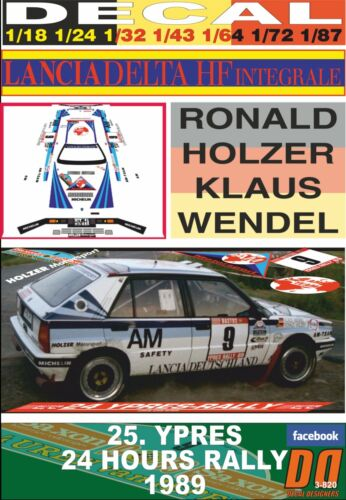05 1989 DnF DECAL LANCIA DELTA INTEGRALE R.HOLZER YPRES 24 HOURS R