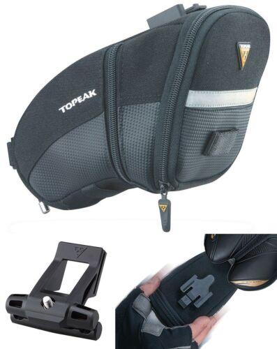 Topeak Large QuickClick Aero Wedge TC2253B Bike Seat Bag w//Fixer QR Pack Black
