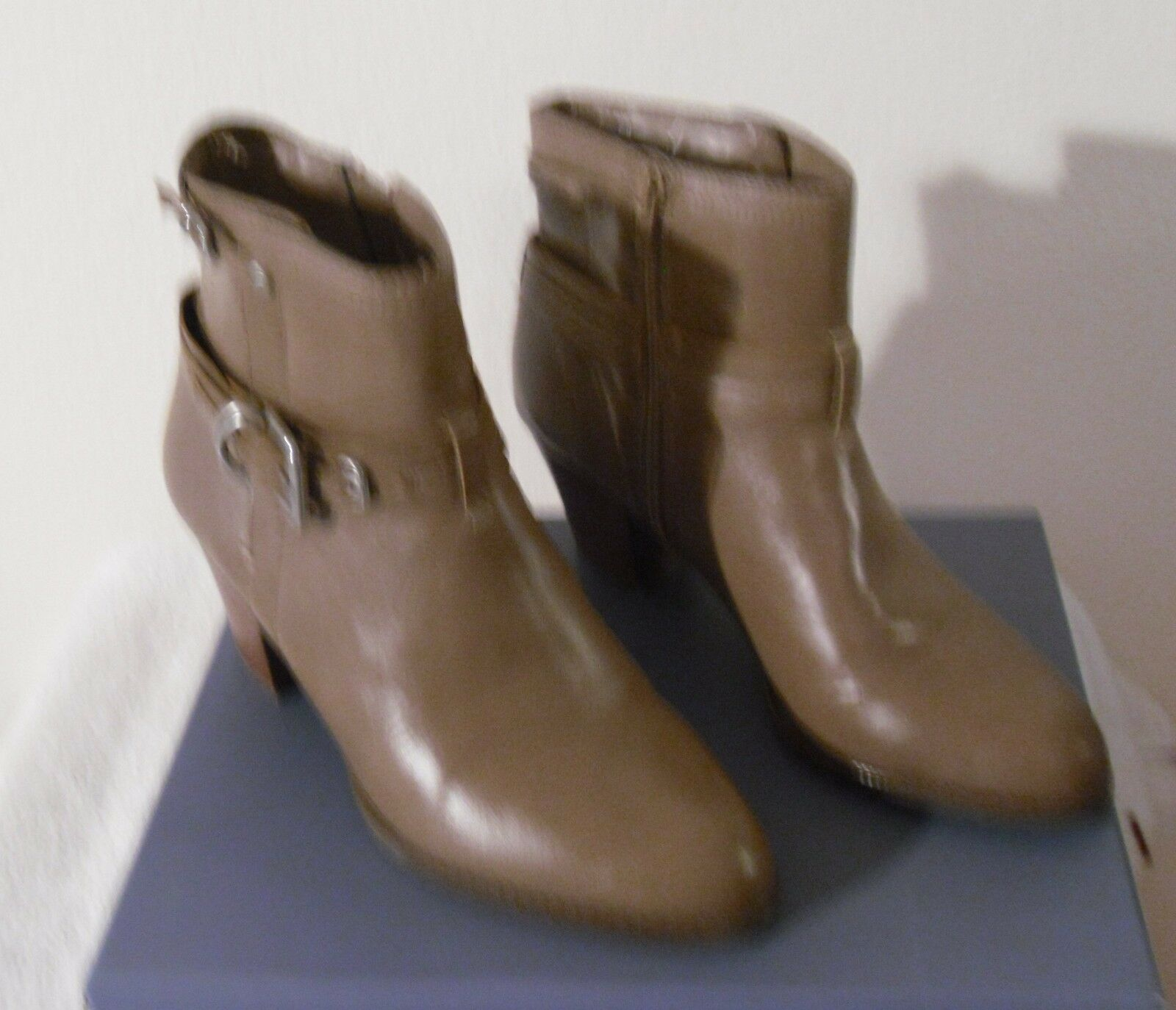 NIB Nickels Marlon Womens Faux Leather Mid-Calf Boots 9.5 Lunar Taupe MSRP