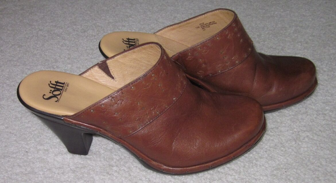 Sofft damen braun Leather Leather Leather Mules Sharp Must C 10 502ca4