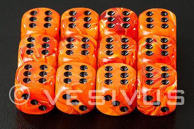 DICE Chessex VORTEX PURPLE Marble Swirl 12d6 d6 Block Dark RPG Game 27637