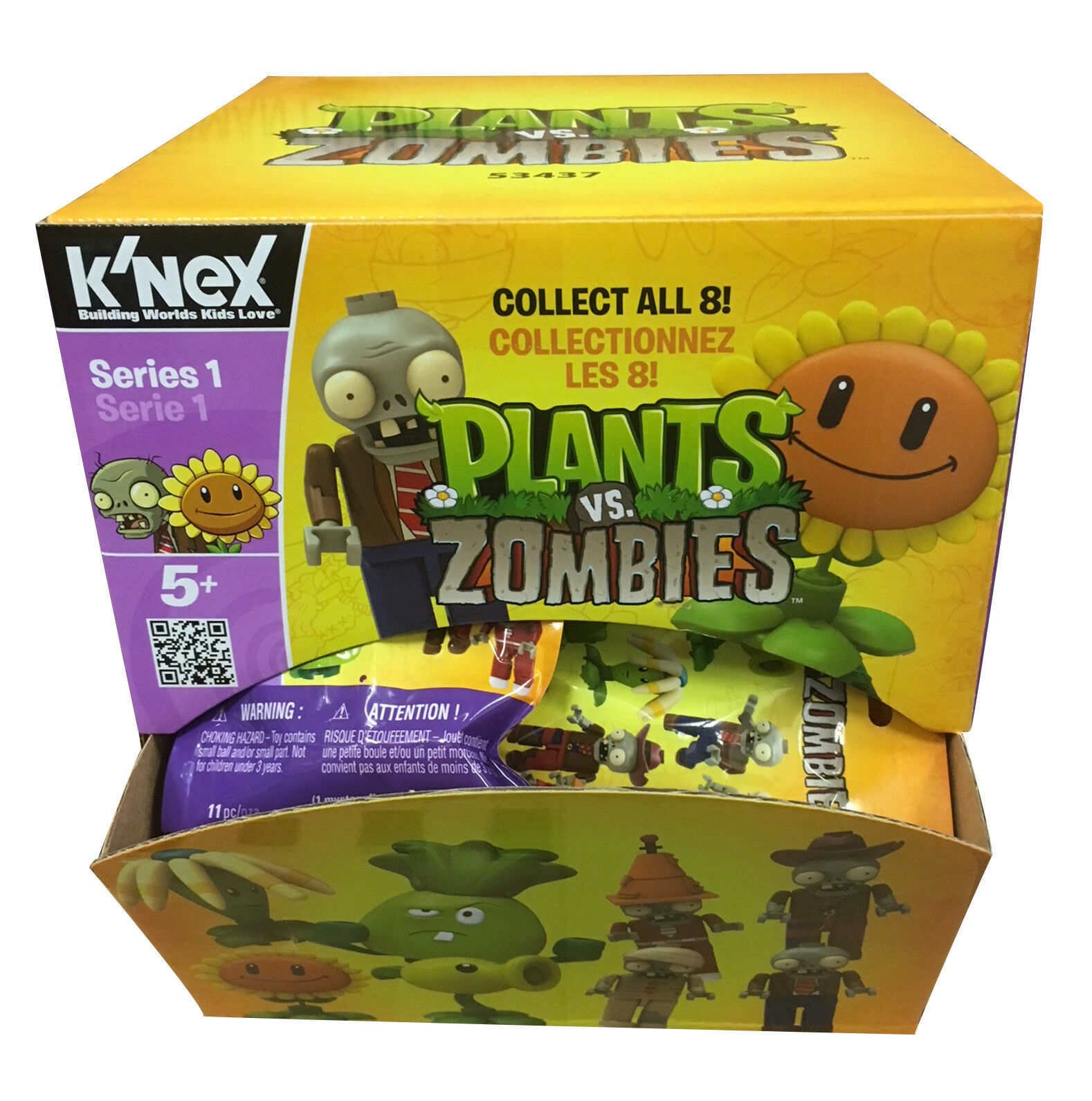K'NEX Plants Vs Zombies BOX of 48 Blind Bags - Ideal Party Gifts or Wholesaler