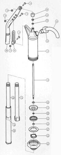 Adattatore s70x6 POMPA A MANO LEVA barile pompa pompa olio cherosene Barile pompa vario PROFI