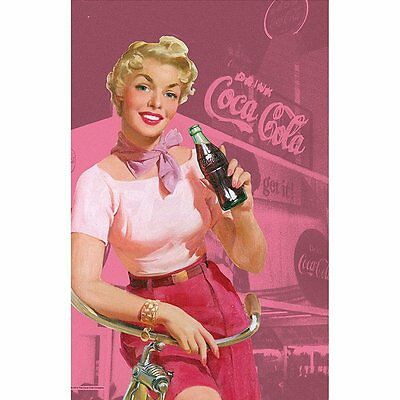 Coca Cola - Tea Towel - Pin Up Pink Coke Home Collection