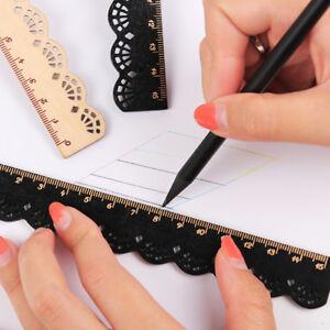 1Pc-Vintage-Wooden-Ruler-Stationery-School-Gift-Measuring-Rulers-DIY-Brown-Black