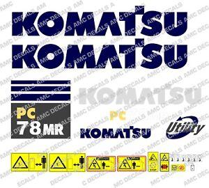 KOMATSU Decals Stickers Digger Excavator 6 pieces pieces