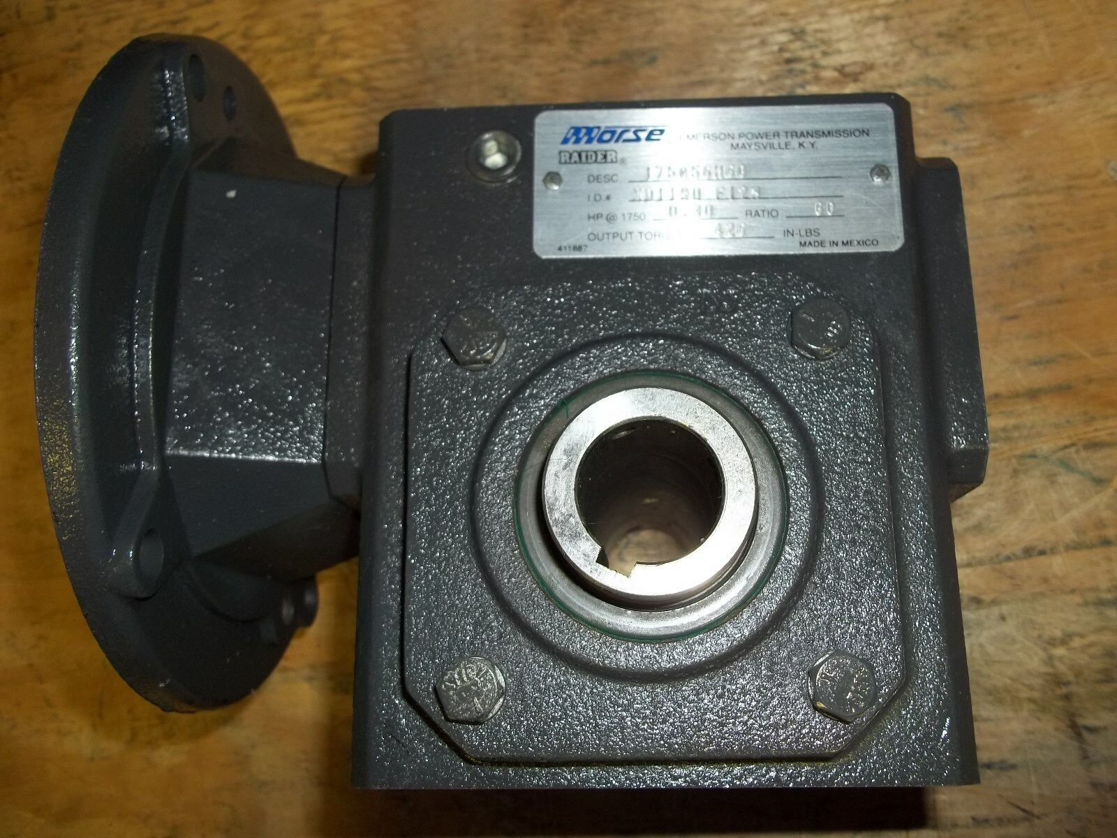 Morse Raider Right Angle Worm Gear Speed Reducer Dual Output 262ULR5 5:1 NEW