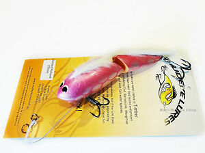 Timber-Mudeye-Lure-Mohawk-jointed-Cod-Lure-170mm-col-New-Pink-Silver