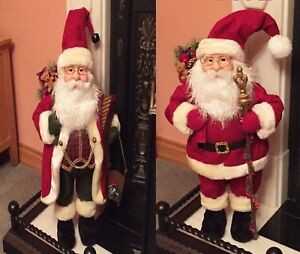 Father Christmas Images Free.Details About Jolly Looking Father Christmas Free Standing Xmas Figure Santa Decoration 70cm