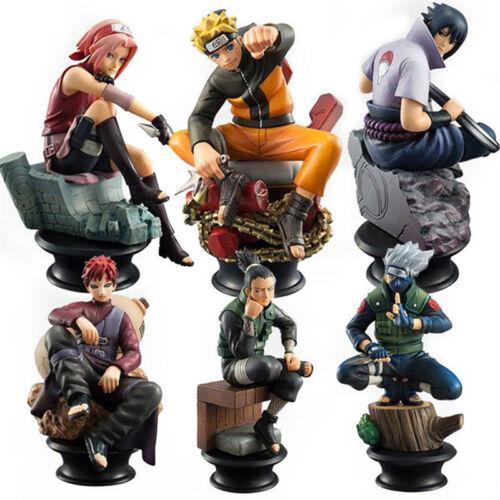 "6PCS Anime Naruto Shippuden Sasuke Gaara 10cm//4/"" PVC Action Figure No Retail Box"