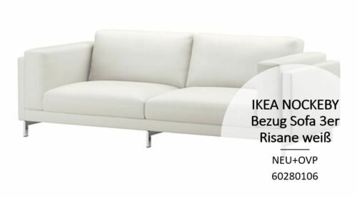 IKEA NOCKEBY 3er Sofa Bezug Risane weiss NEU+OVP 60280106