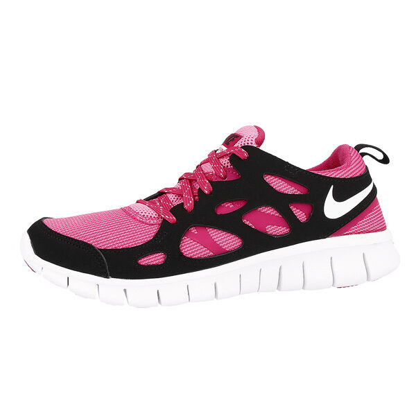 Nike Free correr 2 LE GS Zapatillas de DEPORTIVAS FUCSIA NEGRO 644404-600 Casual wild