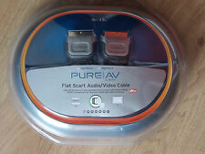 Flat Scart Cable 4.9m Audio/Video Belkin Pure AV Gold DTS