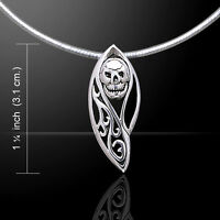 Tribal Skull .925 Sterling Silver Pendant By Peter Stone