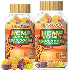 HOOLOO Hemp Gummies 1500000MG Vegan Hemp Gummy Bears for Relaxing Sleep Bette...