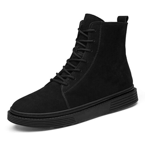 Mens Winter Fur Inside Warm Ankle Boots Shoes Outdoor Walking Sports Non-slip L