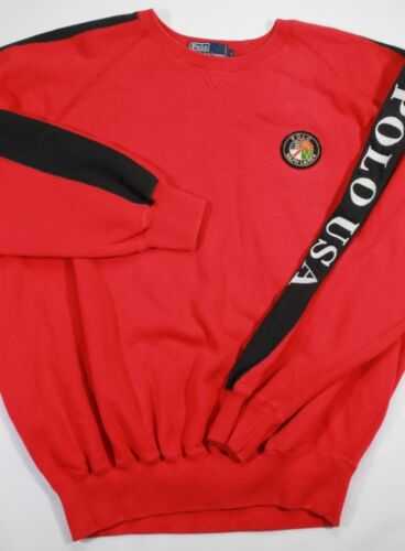 VTG Polo Ralph Lauren 90s 80s Red COOKIE Patch Emb