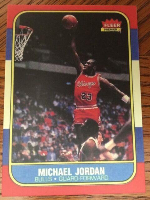 Fleer Michael Jordan Chicago Bulls 57 Basketball Rookie Card Rc Reprint Mt Nrmt