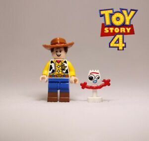 Woody With Forky  Minifigures Disney Pixar Toy Story 4 Compatible