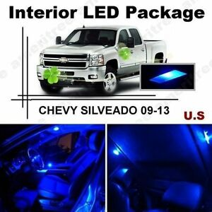 Blue Led Lights Interior Package Kit For Chevy Silverado 2009 2013 12 Pieces Ebay