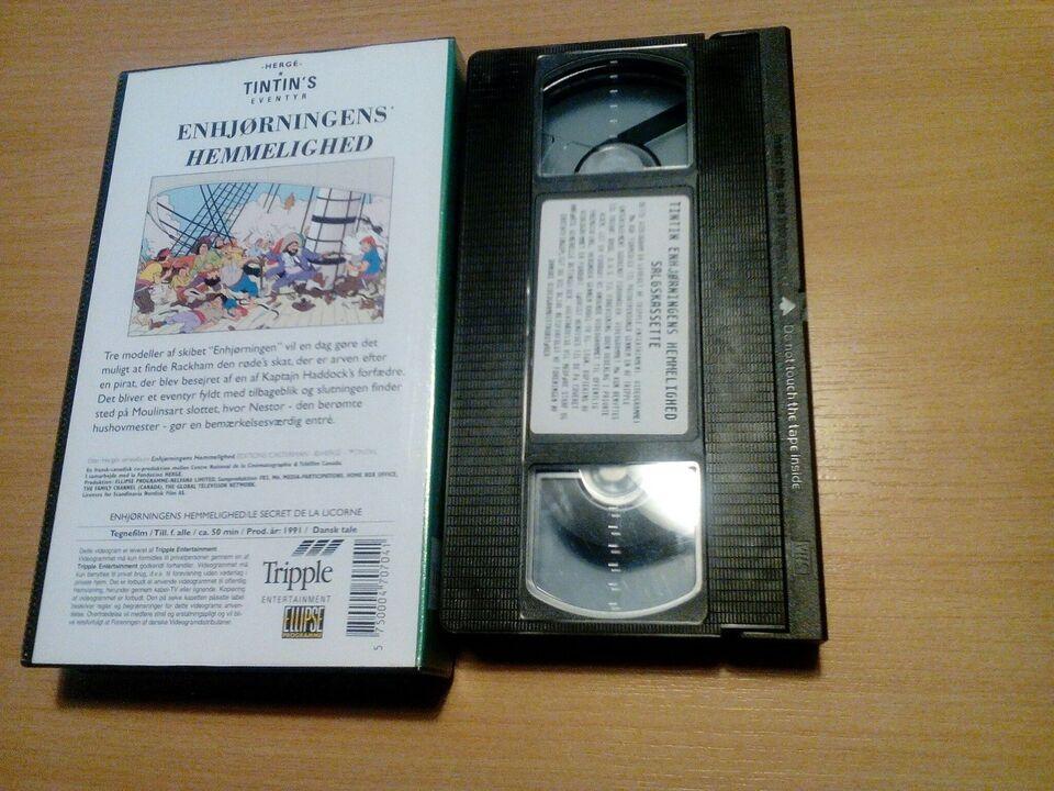 Tegnefilm, Tintin / enhjørningens hemmelighed