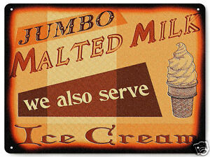 Image Is Loading ICE CREAM PARLOR METAL SIGN For Diner Store