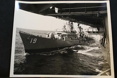 ddg-19 p1373 Refueling 8' X 10' B & W Photo Generous Military Ship Photo Uss Tatnall