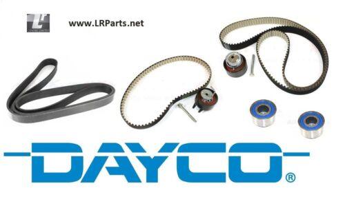 Full Courroie De Distribution Galet /& Kit Courroie De Ventilateur Pour Discovery 3 /& 4 TDV6 2.7 DAYCO LRC1090