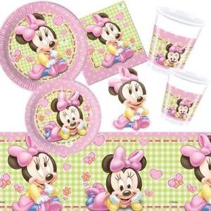 Details Zu Minnie Baby Partydeko Geburt Oder 1 Geburtstag Babyparty Disney Deko Madchen