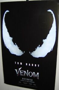 VENOM-Starring-TOM-HARDY-Mini-Original-Promo-Movie-Poster-October-2018-Marvel