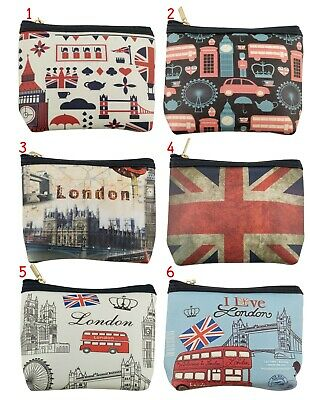 1 assorted Union Jack Skulls and Roses Tic Tac Change coin Purse