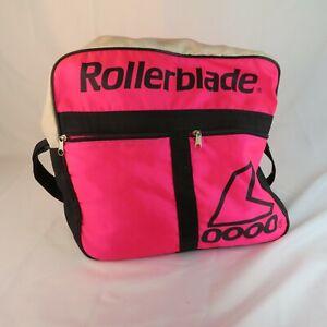 Vintage-Rollerblade-Inline-Skates-Nylon-Carry-Bag-Case-Hot-Neon-Pink