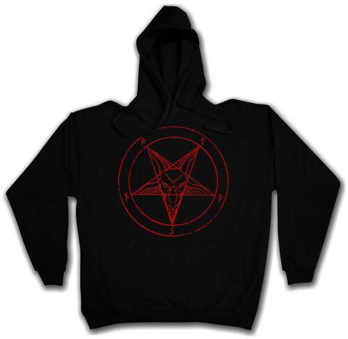 BAPHOMET PENTAGRAM SIGN HOODIE KAPUZENPULLOVER Crowley Satanic Circle 666