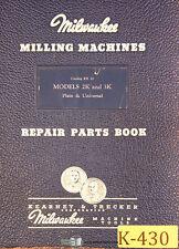 Kearney Amp Trecker 2k Amp 3k Kr 10 Milling Machine 75page Repair Parts Manual