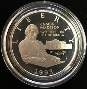 1993-S US Bill of Rights Silver Commemorative Proof Half Dollar